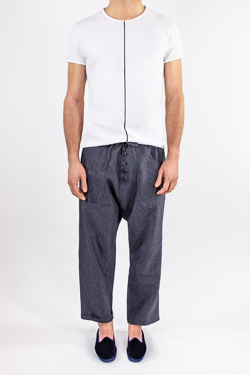 Img 6801 Lijn T Shirt Man White+ellisse Trousers