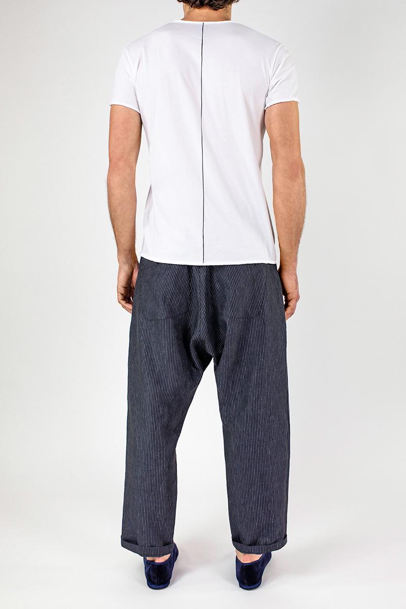 Img 6837 Lijn T Shirt Man White+ellisse Trousers