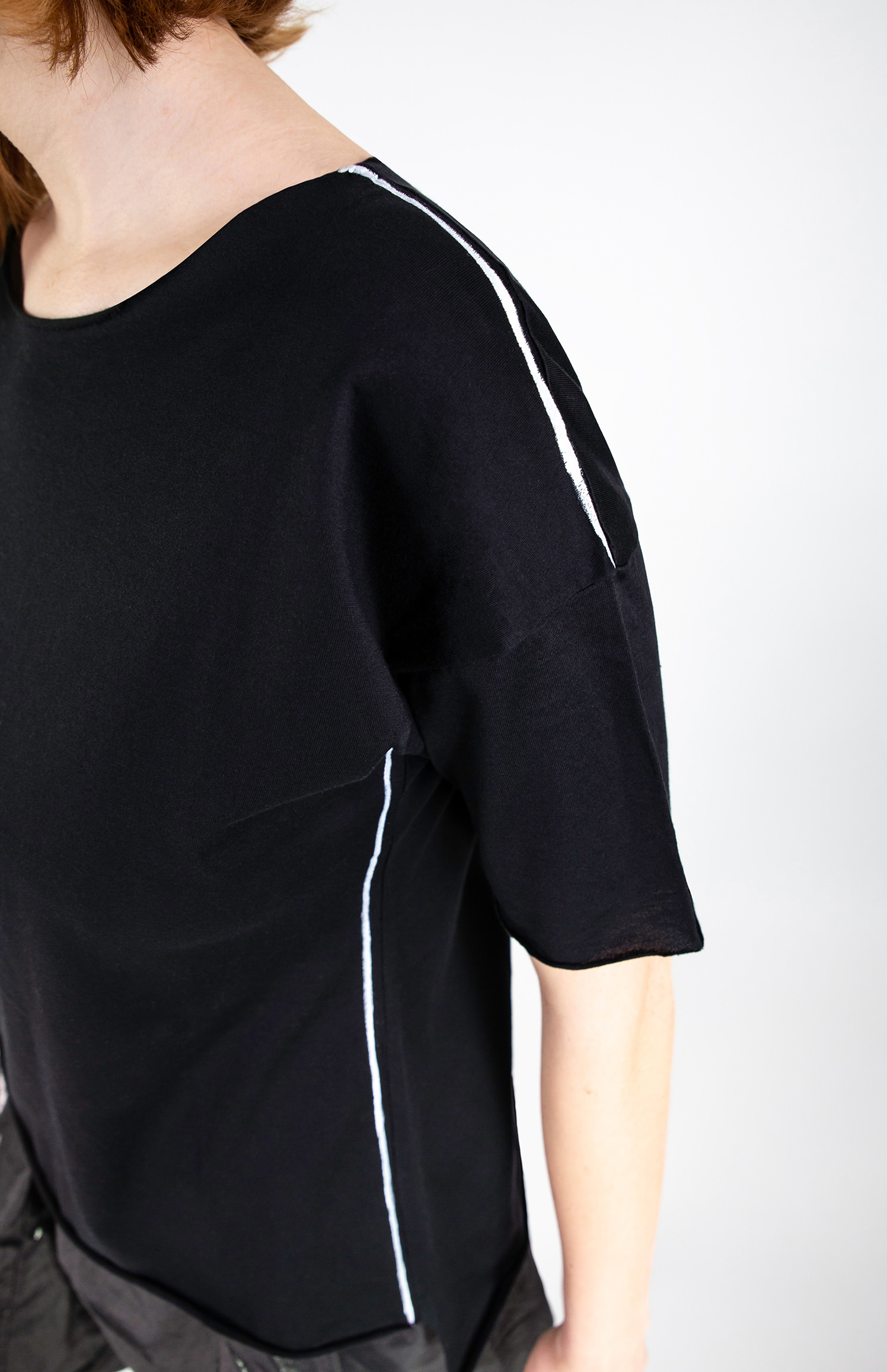 Img 7264 Lijn T Shirt Woman Black