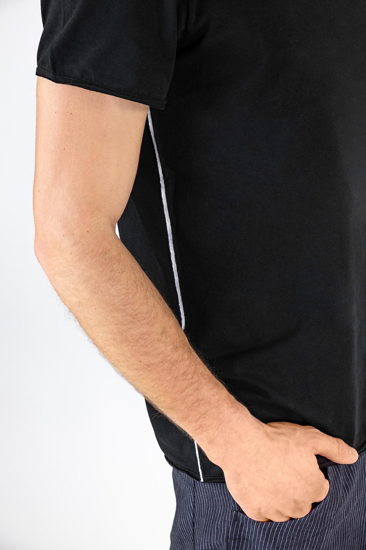 Lijn T Shirt Man Black 6993