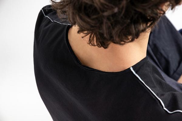Lijn T Shirt Man Black Img 6987