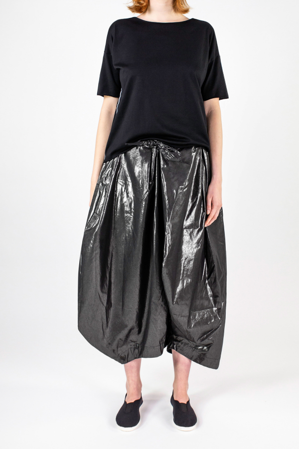 Lijn T Shirt Woman Black+elle Pantskirt Metal Img 7203