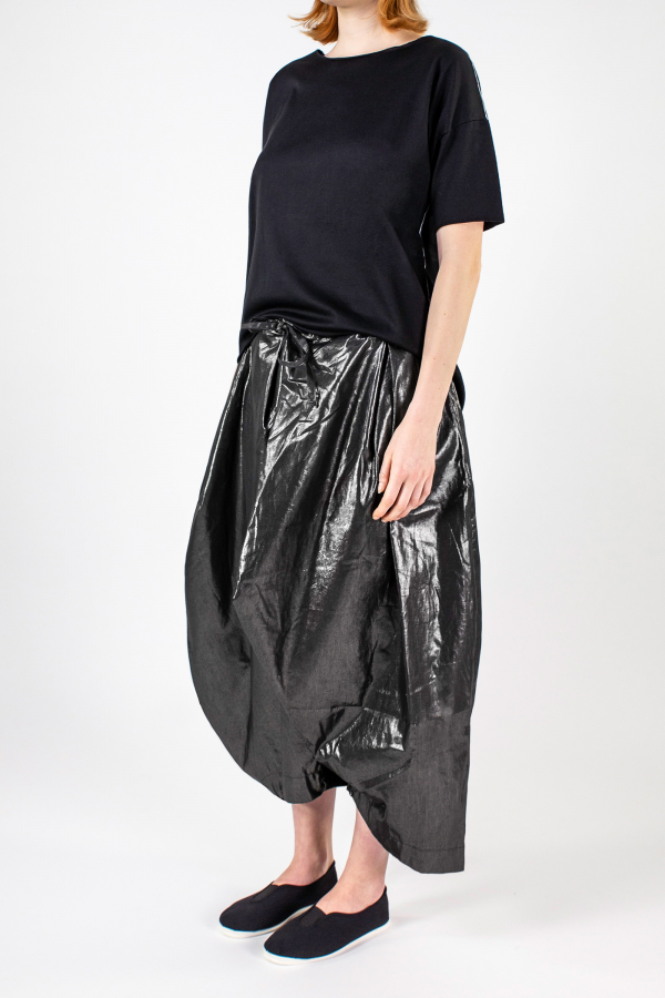 Lijn T Shirt Woman Black+elle Pantskirt Metal Img 7204